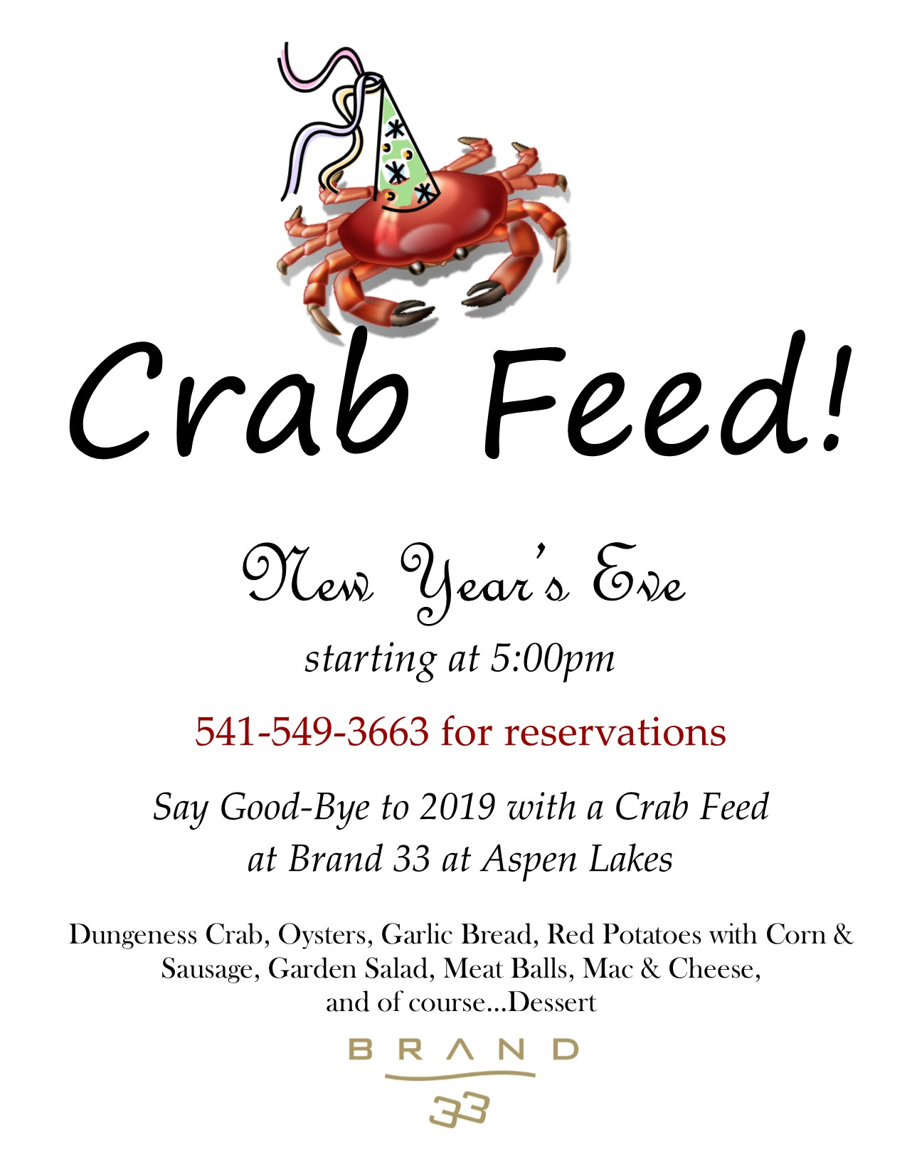 Crab Feed 12 31 19